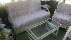 Beautiful solid wicker rattan wood furniture set for Sale in Silver Spring, MD