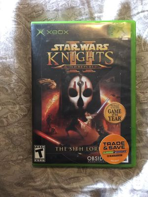Star Wars Knights of the Old Republic 2 Xbox for Sale in Everett, WA