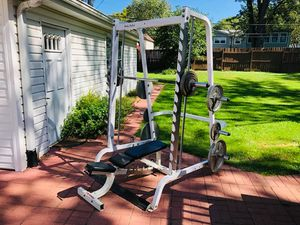 Smith Machine - Body Solid - Olympic Weights - Bench Press - Squat Rack - Power Rack - Work Out for Sale in Downers Grove, IL