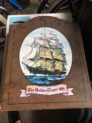 Vintage dart board the golden clipper 1805 for Sale in Virginia Beach, VA