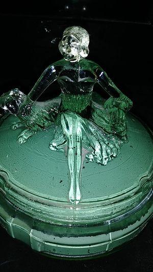 1930's Antique powder glass box for Sale in Clovis, CA