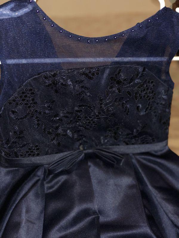 2 Girls wedding dress navy blue worn once