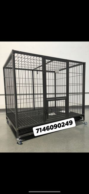"Dog pet cage kennel size 50"" XL heavy duty with plastic floor tray and wheels new in box for Sale in Chino, CA"
