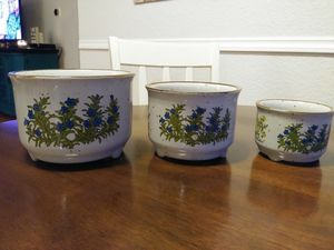 Vintage garden nesting pots for Sale in Puyallup, WA