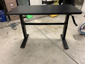 Sit or stand adjustable hand crank desk for Sale in Goodyear, AZ