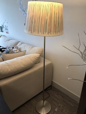 Living room lamp floor lamp with warm lighting for Sale in Irvine, CA