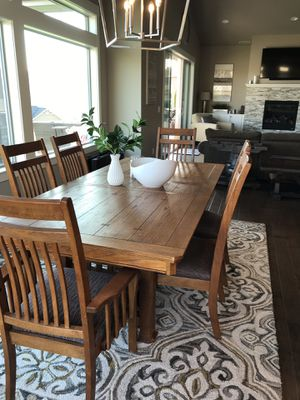 Solid wood Dining table with chairs for Sale in Chelan, WA