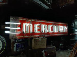 Fantastic Mercury Porcelain Neon dealership sign for Sale in Westerville, OH
