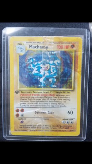 Original Print Holographic 1st Edition Machamp Pokemon Card for Sale in San Diego, CA