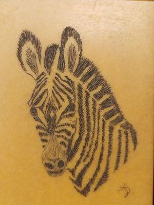 Zebra scrimshaw for Sale in Tampa, FL