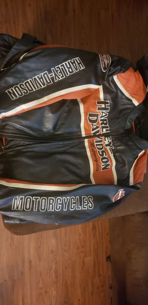 Harley davidson leather riding jacket 4xl for Sale in Victoria, TX