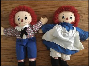 "18"" Raggedy Ann and Andy dolls for Sale in Stickney, IL"