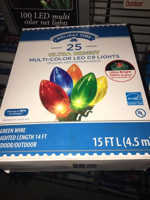 25 ultra bright c9 led christmas lights new, used for sale  box for Sale