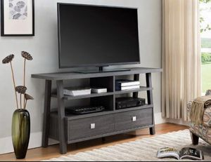 GREY TV STAND WITH DRAWERS NEW for Sale in Austin, TX