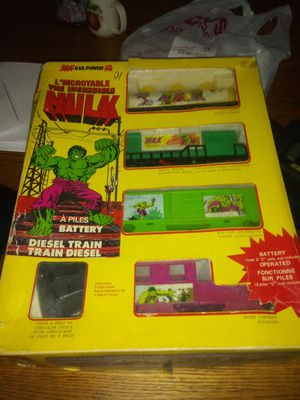 Pokemon gold cards new and incredible hulk train set from 1979 for Sale in Cleveland, OH