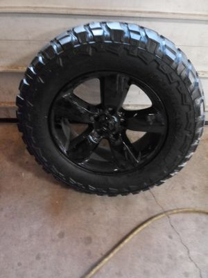 Dodge ram 1500 black rims 20s n tires for Sale in Chicago, IL