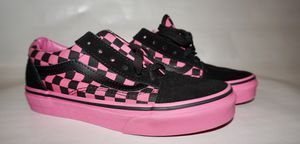 Pink and black kids checker Vans for Sale in Los Angeles, CA