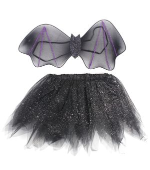 Halloween Costume Sets, Bat Wings + Tulle Tutu Skirt Cosplay Party Accessories for Girls Kids for Sale in Las Vegas, NV