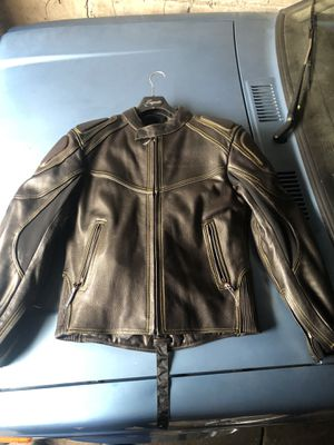 Leather motorcycle jacket for Sale in Yonkers, NY