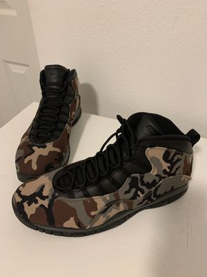 Newly Released Air Jordan 10 Woodland Camo. Rare Size 18. Open to Offers for Sale in TWN N CNTRY, FL