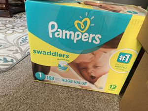 Pampers diapers size 1 never been open for Sale in Richmond, CA