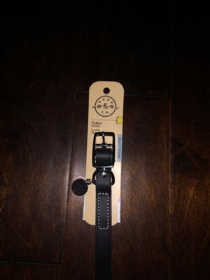 BLACK LEATHER DOG COLLAR for Sale in Vancouver, WA