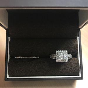 1 1/3 Cart Princess Cut Diamond Bridal Ring for Sale in Snow Camp, NC