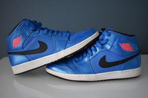 Nike Air Jordan 1 Mid Sport Blue Infrared Black-White Retro 554724-423 size 12 for Sale in Fort Lauderdale, FL