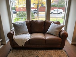 Eddie Bauer leather couch for Sale in Vancouver, WA