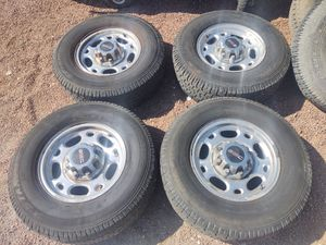 """Chevy or GMC 8 Lug Factory Mag Rims with 245/70/16"""" Tires. for Sale in Las Vegas, NV"""