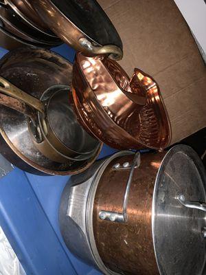 Copper pans pots skillets for Sale in Oakland Park, FL