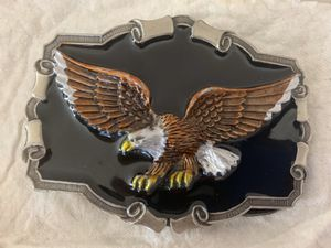 The Great American Buckle Co 1983 Authentic Belt Buckle American Eagle #QD1243 for Sale in Portland, OR