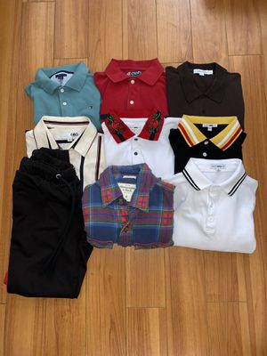Clothing lot Nice clothing ! Ropa de Marca ! Size small Men! for Sale in Tustin, CA