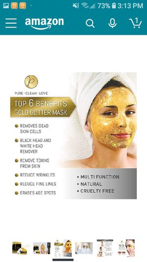 GOLD Glitter Face Mask for Sale in Mesquite, TX