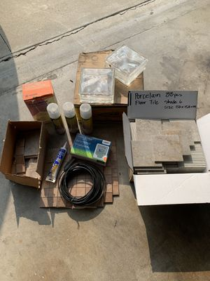 Building Materials: Porcelain Tile, Glass Block, Sprinkler Timer, Non-Sanded Grout for Sale in La Puente, CA