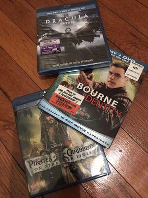 Lot of 3 fantasy adventure Blu-ray DVD movies for Sale in Petersburg, VA