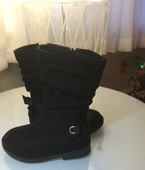 Black boots Size 7 for toddler girl for Sale in Hamden, CT