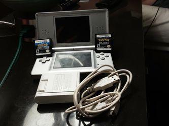 Nintendo Ds Lite + Charger + Pokémon Black & Pokémon Black 2 for Sale in Virginia Beach,  VA