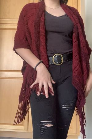 Women's clothes/accessories- Red maroon knit shawl for Sale in Henderson, NV