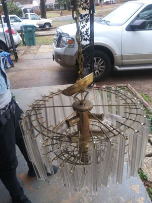 Brass and plastic chandelier for Sale in Southaven, MS