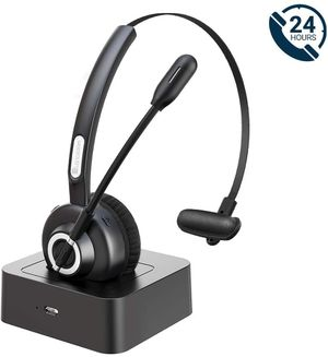 Bluetooth Headsets for Cell Phones, 24 Hrs Talk Time Wireless Headsets, CVC 8.0 Noise Cancelling On Ear, Charging Dock for PC iPhone Android for Sale in Syosset, NY
