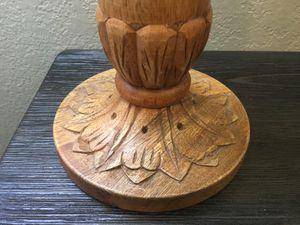 Light Wooden carved candle holder 15-18inch for Sale in Canyon Country, CA