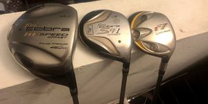 Cobra golf driver,3woods and taylormade r7 5woods for Sale in Los Angeles, CA