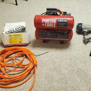 Porter Cable Compressor Framing Nailer Bundle for Sale in Jefferson, NJ