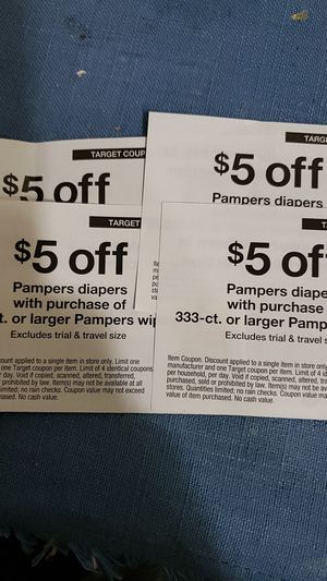 $5 off Pampers diapers for Sale in Sunnyvale, CA