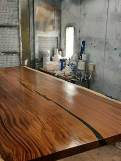 8 Foot Live Edge Table With Base for Sale in Largo,  FL