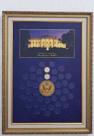 Presidential dollars coin collection wall display frame for Sale in Norcross, GA