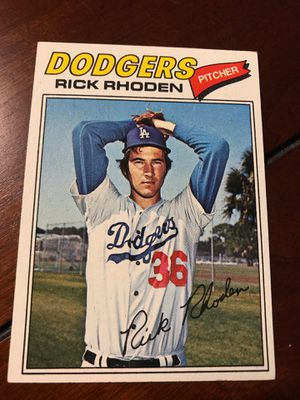 1977 Topps #245 Rick Rhoden Los Angeles Dodgers Baseball Card for Sale in Conover, NC