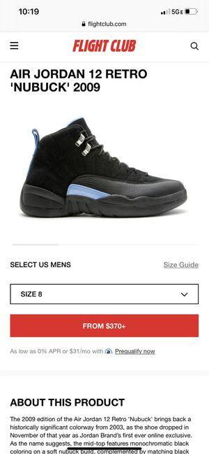 Jordan 12s. Black and Carolina blue for Sale in Miami, FL