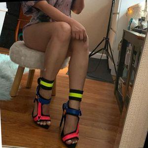 Bella Sexy multicolor Open toe Heel for Sale in Ontario, CA